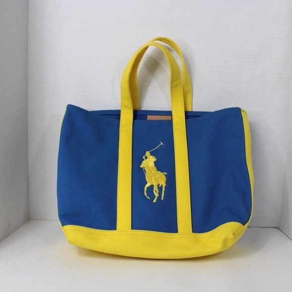 Ralph Lauren Big Pony Logo Canvas Handled Tote Bag.  M 5b3f80ccd6dc52a06e951c85 c8136c59cf